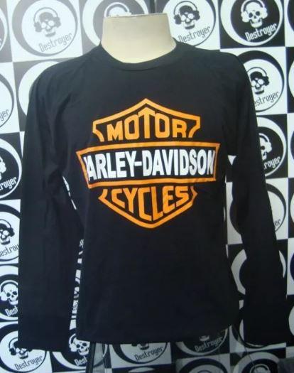 Camiseta Manga Longa Harley Davidson Motorcycles