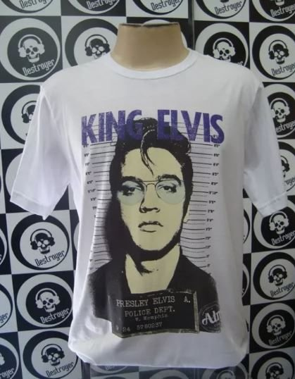 Camiseta Elvis Preslei - King Elvis