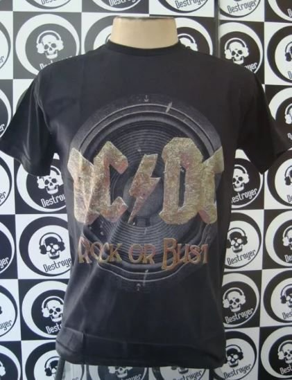 Camiseta AC DC - Rock or Bust