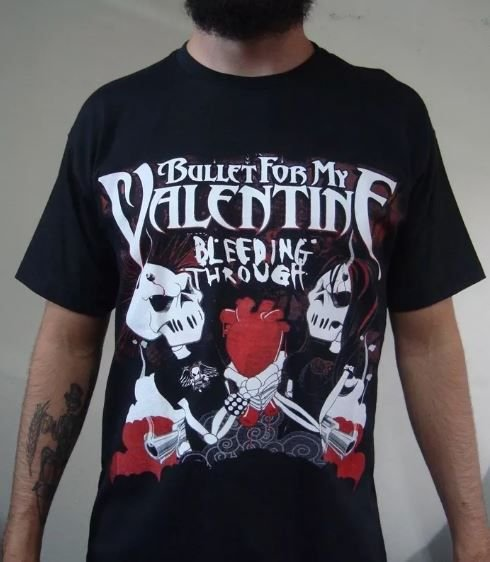 Camiseta Bullet For My Valentine - Bleeding Through