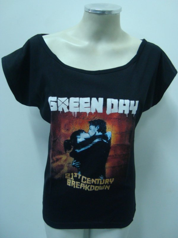 Blusinha gola canoa Green Day - 21 Century Breakdown