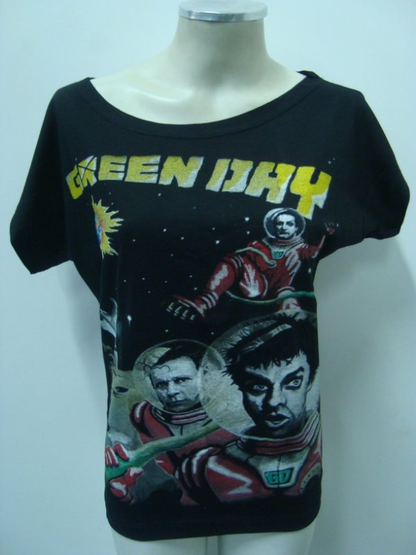 Blusinha gola canoa - Green Day