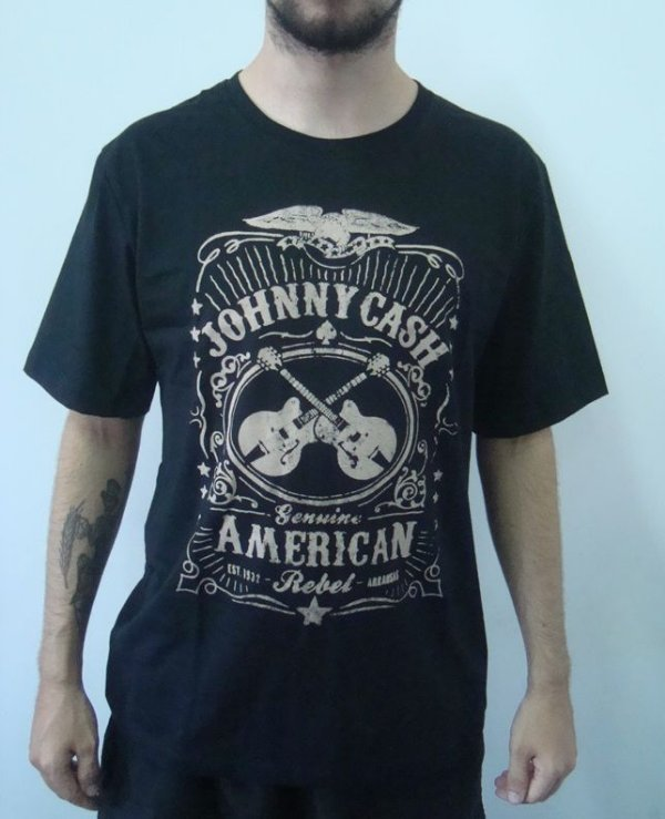 Camiseta Promocional - Johnny Cash - American Rebel