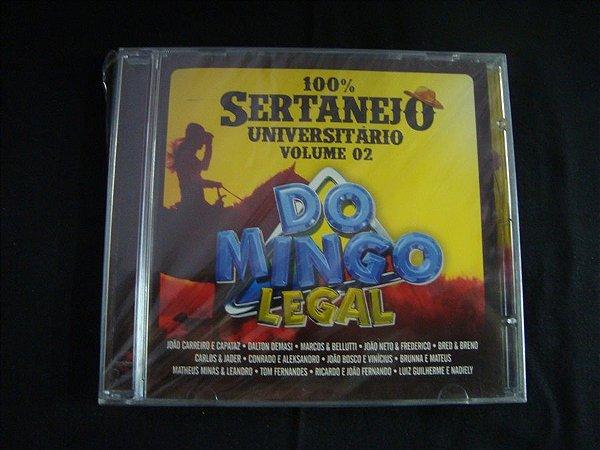 CD 100% Sertanejo Universitário - Volume 02 - Domingo Legal