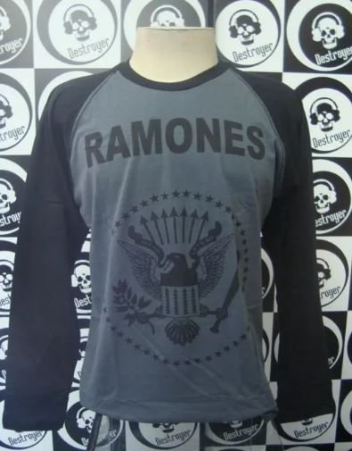 Camiseta manga longa raglan - Ramones