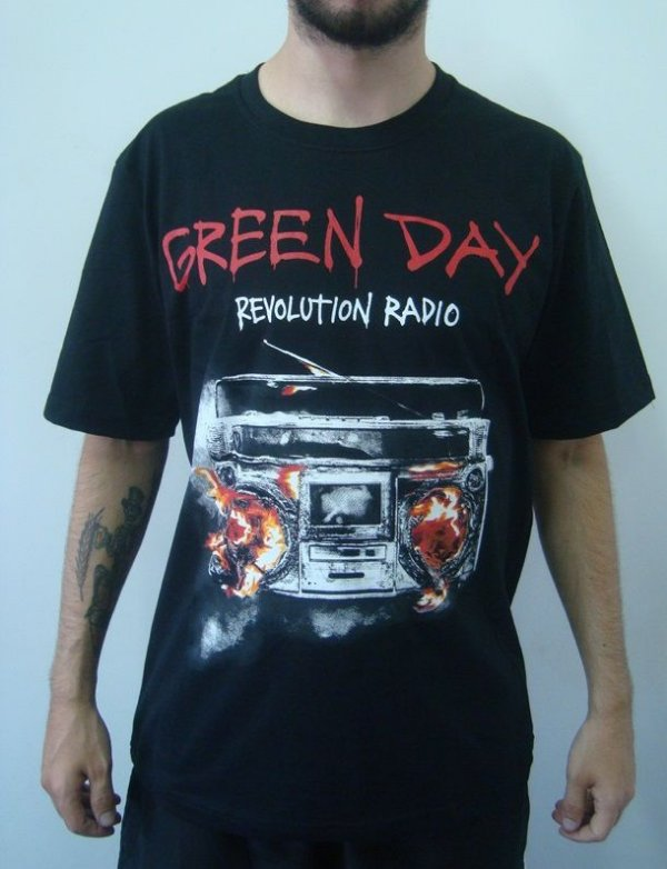 Camiseta Promocional - Green Day - Revolution Radio