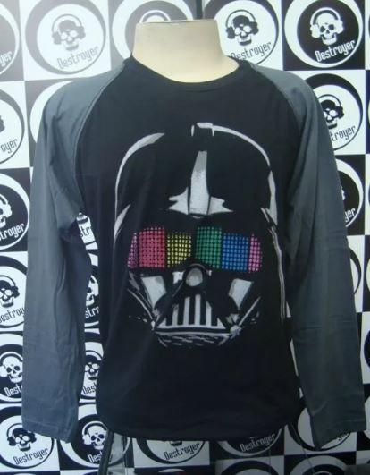 Camiseta Manga Longa Raglan - Darth Vader