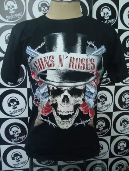 Camiseta Guns And Roses - Caveira