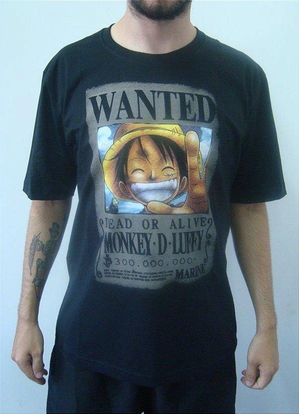 Camiseta Promocional - One Piece - Wanted