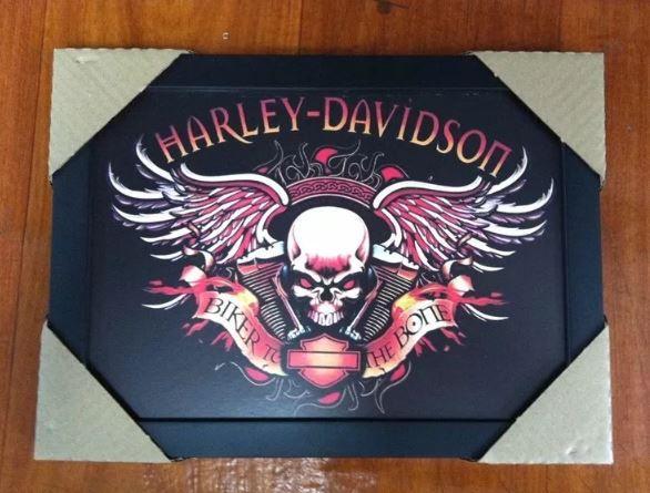 Quadro - Harley Davidson - Biker to the Bone