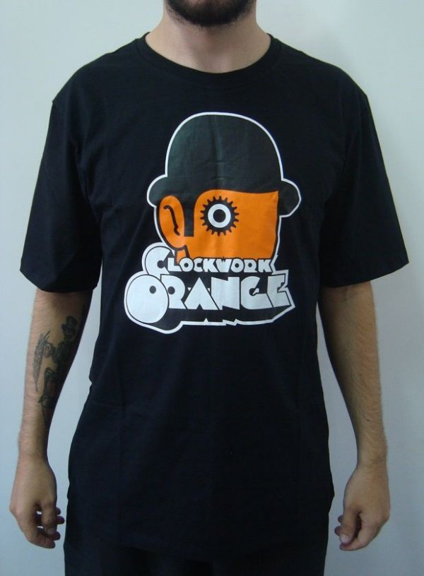 Camiseta Promocional - Laranja Mecânica