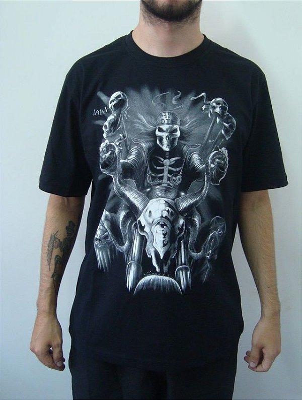 Camiseta promocional - Caveira Motociclista