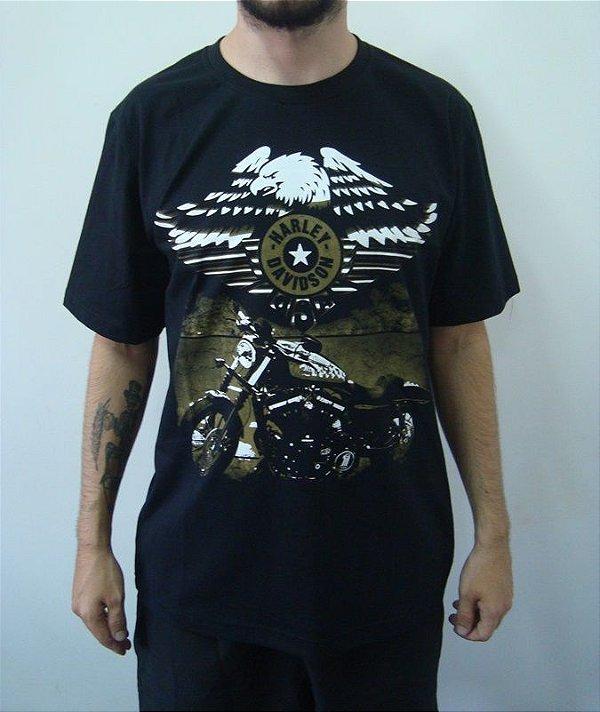 Camiseta Promocional - Harley Davidson - 883 Águia