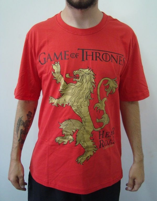 Camiseta Promocional - Game of Thrones - Lannisters