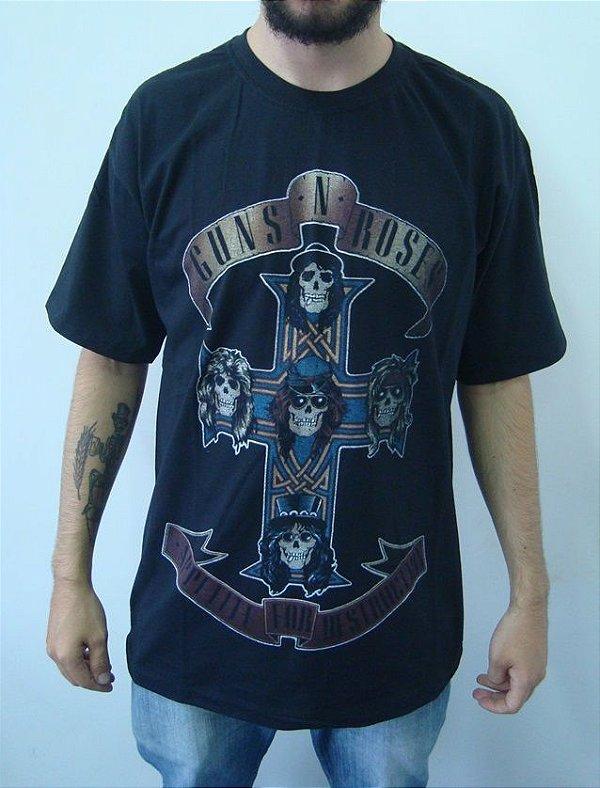 Camiseta Guns and Roses - Appetite For Destruction
