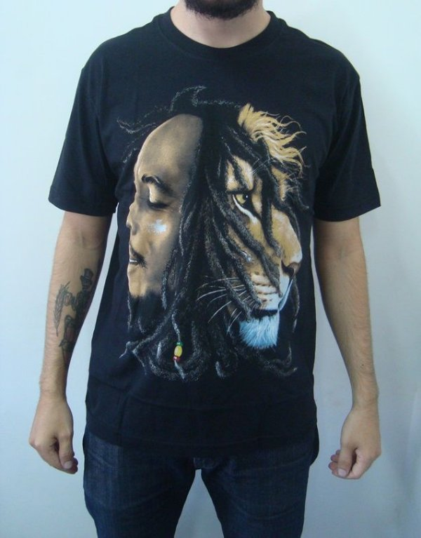 Camiseta Bob Marley - Leão