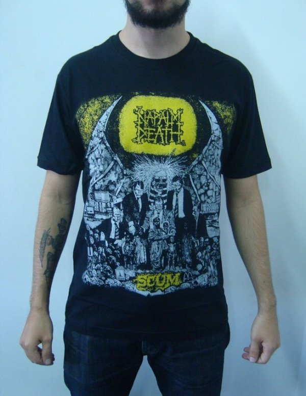 Camiseta Napalm Death - Scum