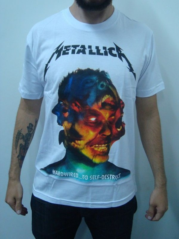 Camiseta Metallica - Hardwired ...to self Destruct