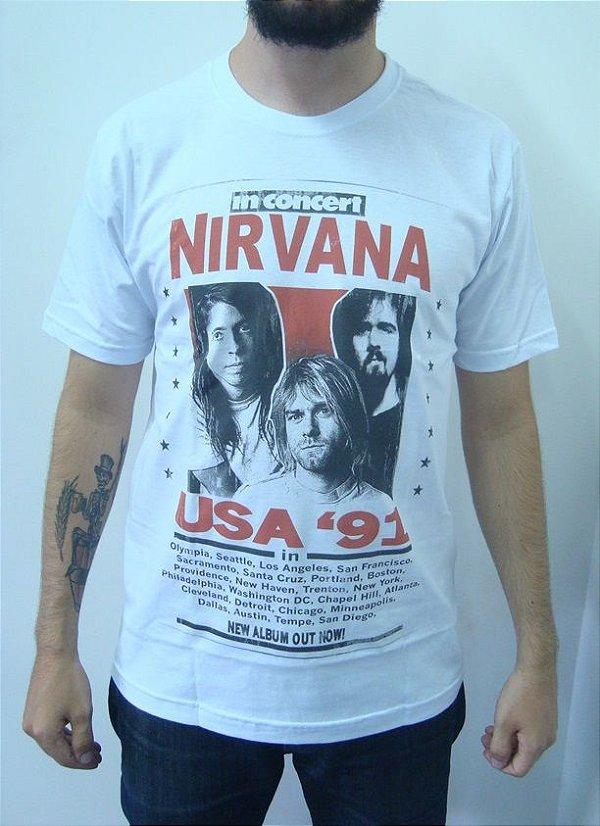 Camiseta Nirvana - In Concert USA 91'