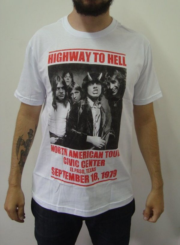 51d62ace92 Camiseta AC DC Highway to Hell - North America Tour - Loja Destroyer