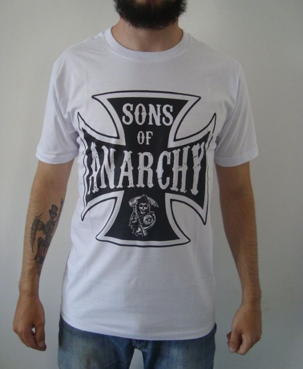 Camiseta Sons of Anarchy - Branca