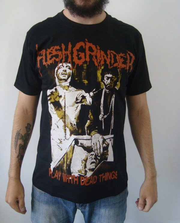 Camiseta Flesh Grinder - Play with dead Things