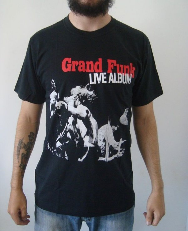 Camiseta Grand Funk Railroad - Live Album