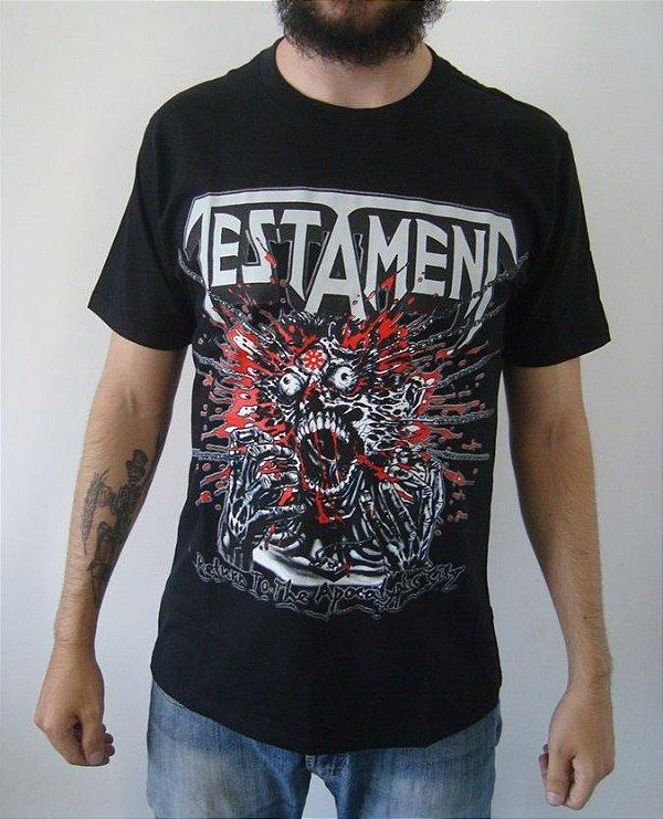 Camiseta Testament - Return to the Apocalyptic City