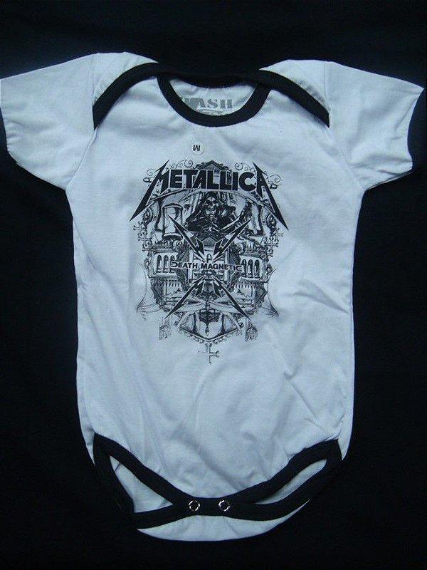 Body para bebês - Metallica (branco)