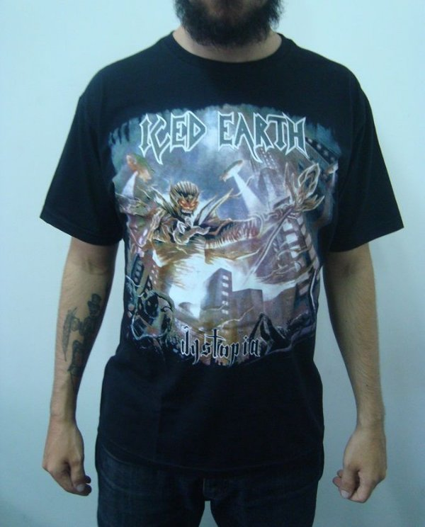 Camiseta Iced Earth - Dystopia