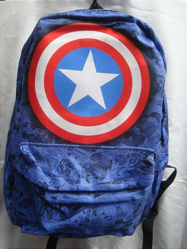 Mochila Escolar - Capitão América