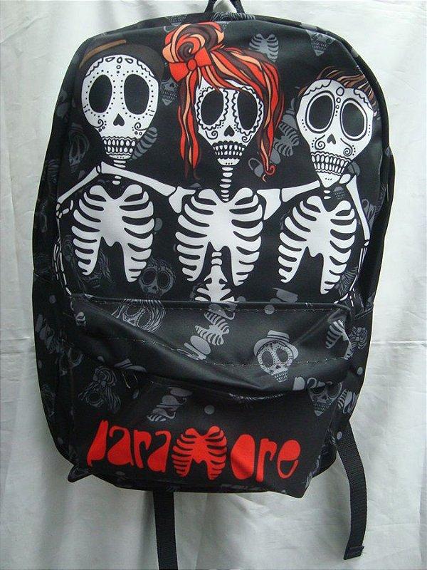 Mochila Escolar - Paramore - Skull