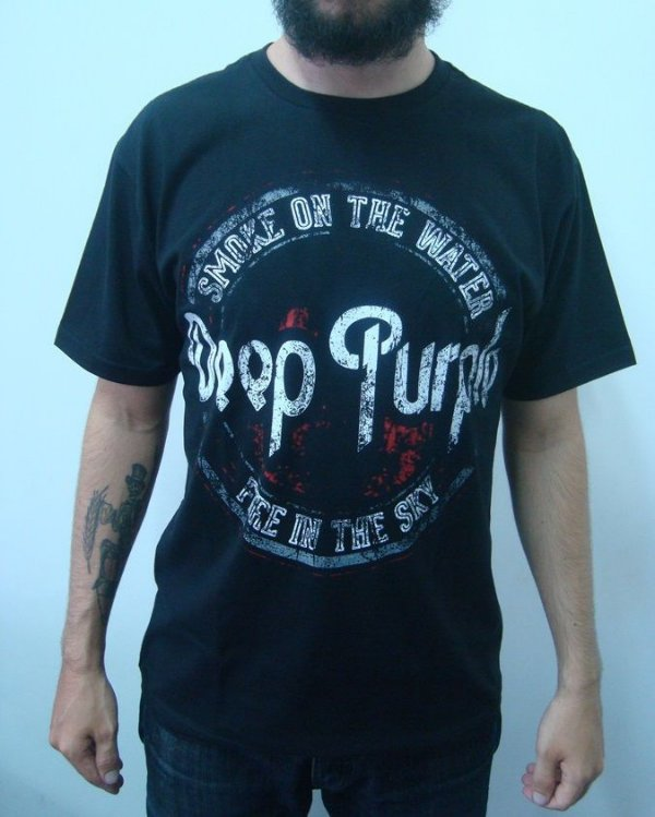 Camiseta Deep Purple - Smoke on the Water - Fire in the Sky