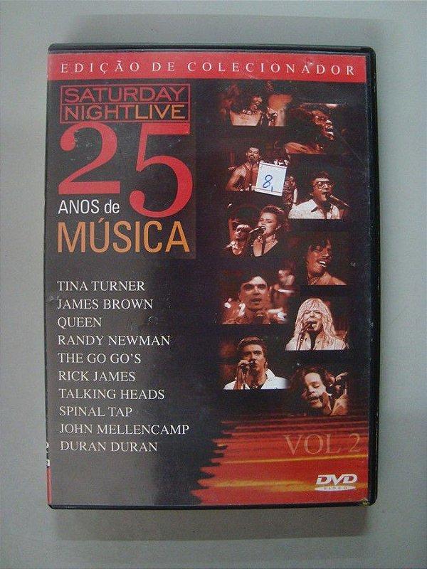 Dvd Saturday Night Live - 25 Anos De Música - Volume 2