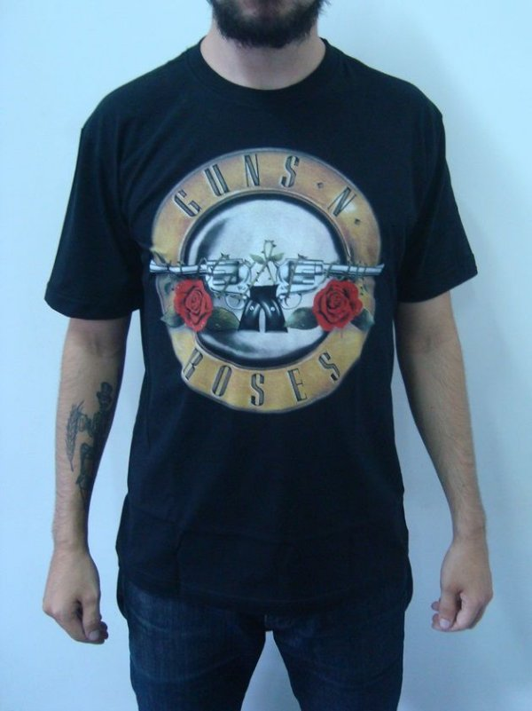 Camiseta Guns and Roses - Símbolo clássico