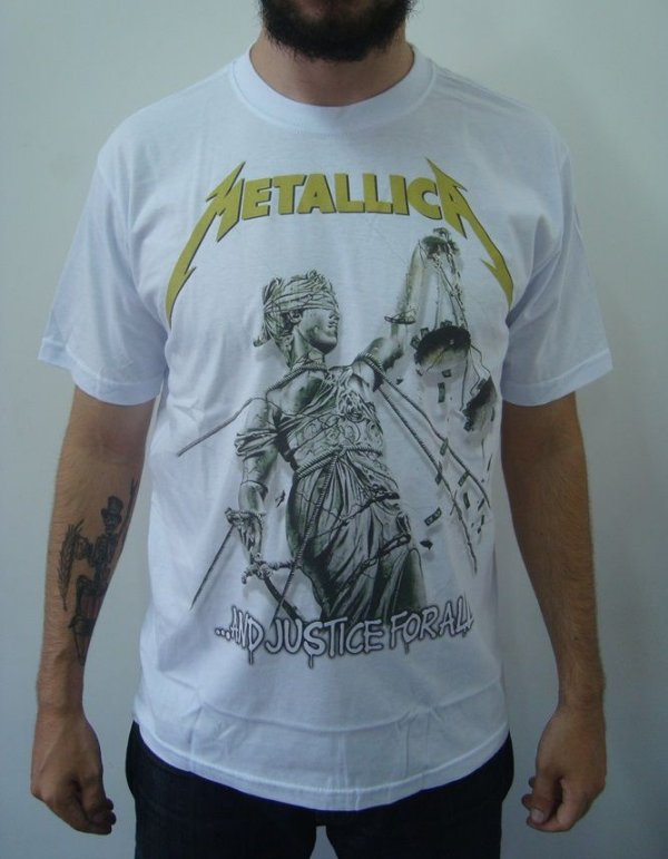 Camiseta Metallica - And Justice for All - Branca