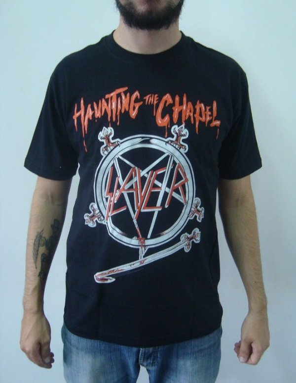 Camiseta Slayer - Haunting the Chapel