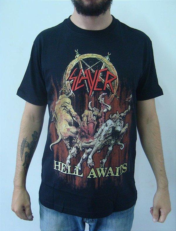 Camiseta Slayer - Hell Awaits