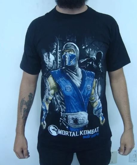 Camiseta Mortal Kombat - Sub-zero