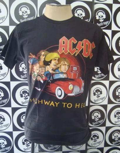 Camiseta AC DC - Highway to Hell - Carro