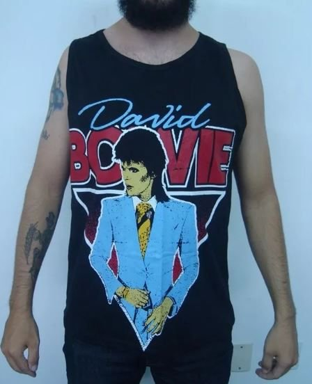 Camiseta Regata - David Bowie