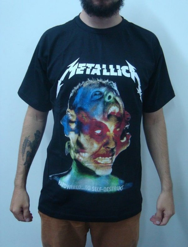 Camiseta Metallica - Hardwired to self Destruct