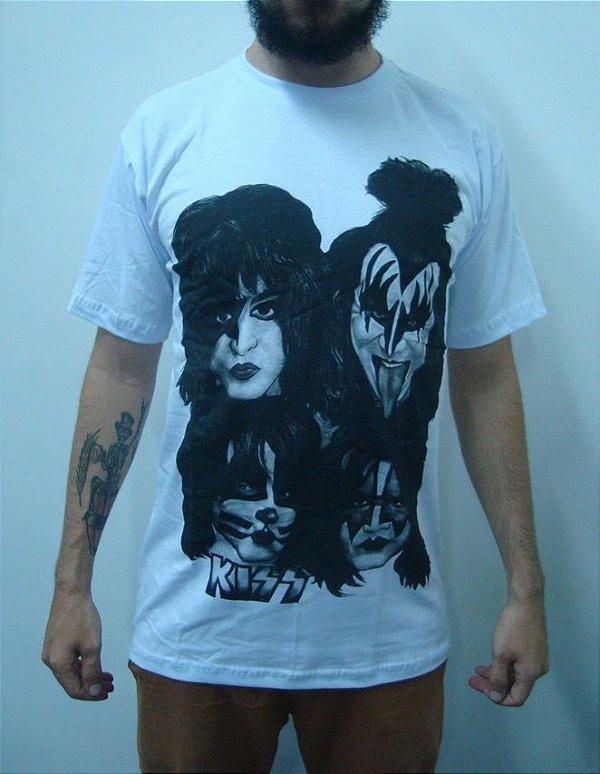 Camiseta branca Kiss