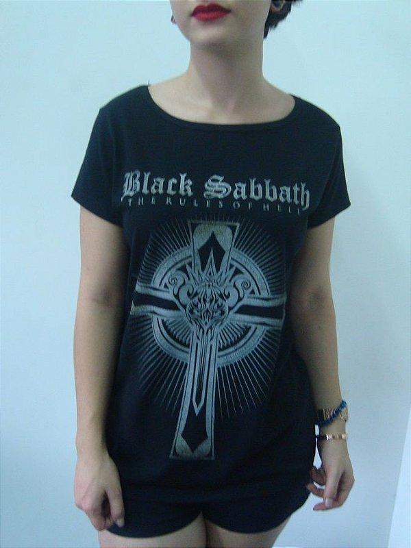 Baby look feminina da banda Black Sabbath - The rules of hell - Loja ... 8a586491d0ce6