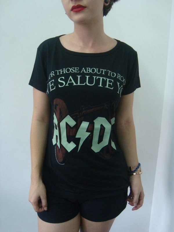 Baby look feminina - AC DC - For those about to rock