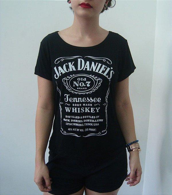 Baby Look Customizada - Jack Daniels