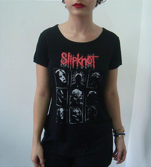 Baby look customizada - Slipknot