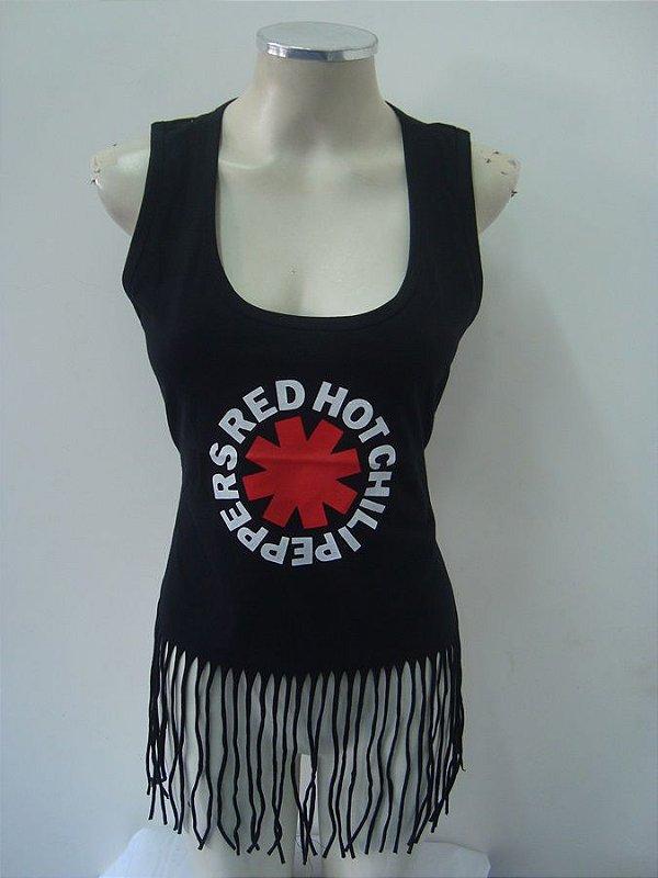 Regatinha feminina customizada - Red Hot Chili Peppers