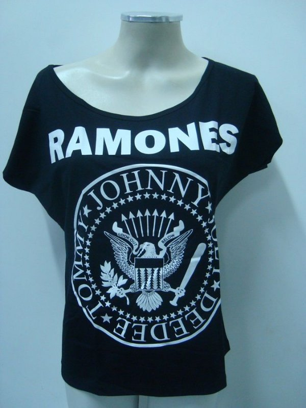 Blusinha gola canoa - Ramones