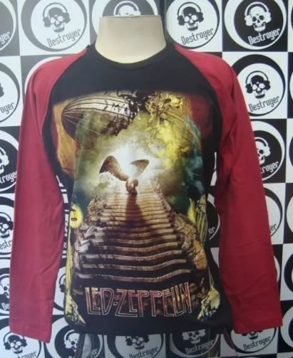 Camiseta manga longa raglan - Led Zeppelin - Stairway to Heaven